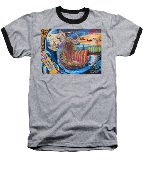Blue Cat Productions 500 Empires Never Die - Odin Baseball T-Shirt