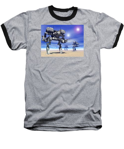 501st Mech Trinary Baseball T-Shirt by Curtiss Shaffer