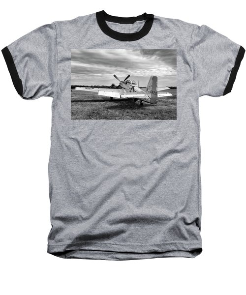 Baseball T-Shirt featuring the photograph 51 Shades Of Grey by Peter Chilelli