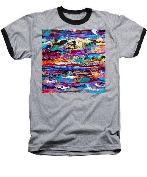 #521  Bright Swipe Baseball T-Shirt