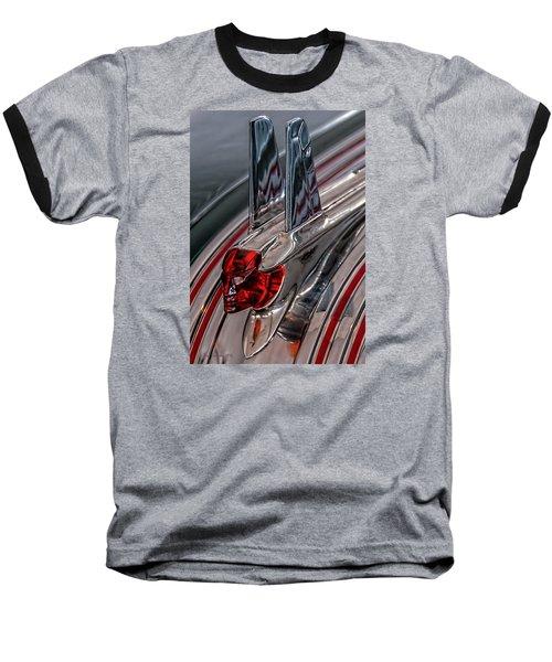 Baseball T-Shirt featuring the photograph 53 Pontiac Chieftan Hood Ornament by Trey Foerster