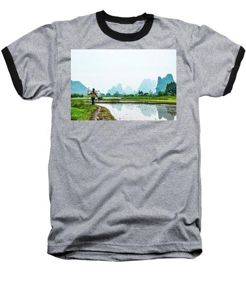 Karst Rural Scenery In Spring Baseball T-Shirt