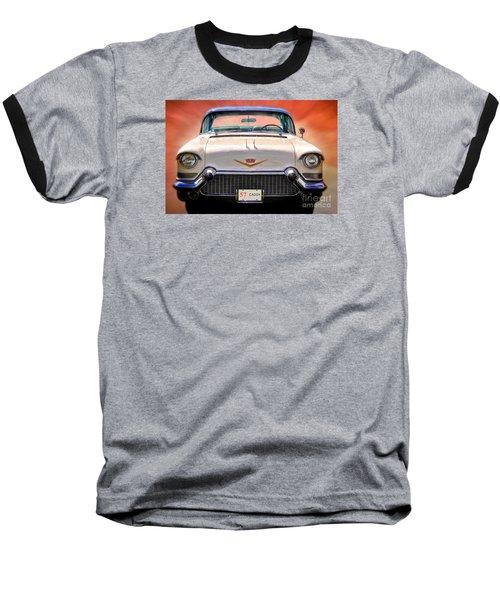 57 Caddy Baseball T-Shirt by Suzanne Handel