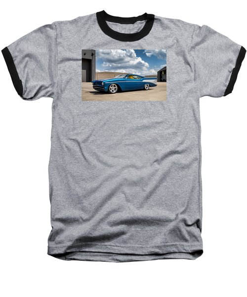 Baseball T-Shirt featuring the digital art '57 Chevy Custom by Douglas Pittman