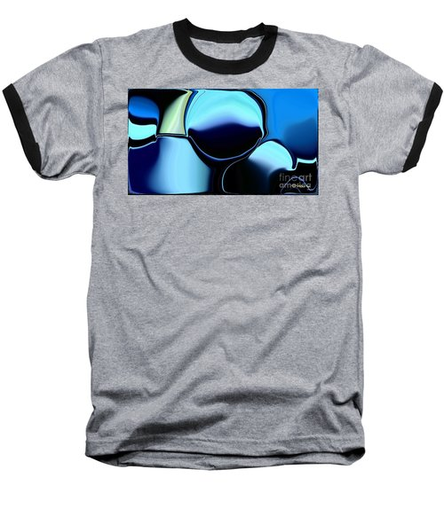 Baseball T-Shirt featuring the digital art 57 Distortions by Greg Moores
