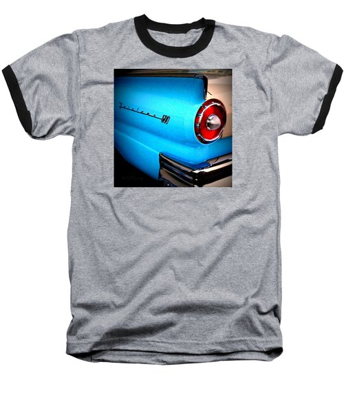 57 Ford Fairlane  Baseball T-Shirt by Nick Kloepping