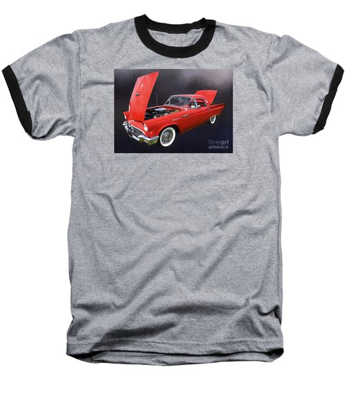 57 Thunderbird Baseball T-Shirt by Suzanne Handel
