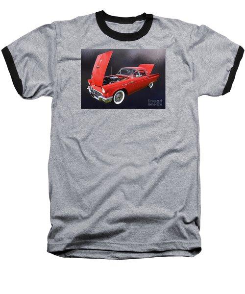 57 Thunderbird Baseball T-Shirt