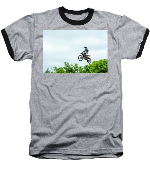 Baseball T-Shirt featuring the photograph 573 Flying High At White Knuckle Ranch by David Morefield