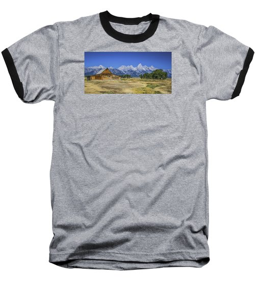 #5730 - Mormon Row, Wyoming Baseball T-Shirt