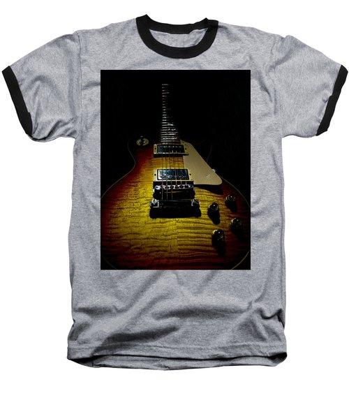 Baseball T-Shirt featuring the digital art 59 Reissue Guitar Spotlight Series by Guitar Wacky