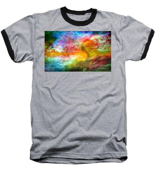 5a Abstract Expressionism Digital Painting Baseball T-Shirt