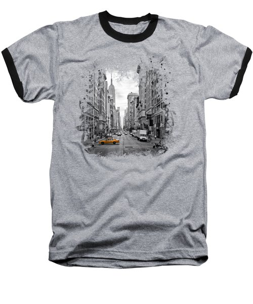 New York City 5th Avenue Baseball T-Shirt by Melanie Viola