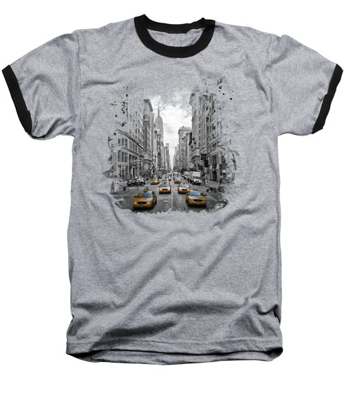 5th Avenue Nyc Traffic II Baseball T-Shirt by Melanie Viola