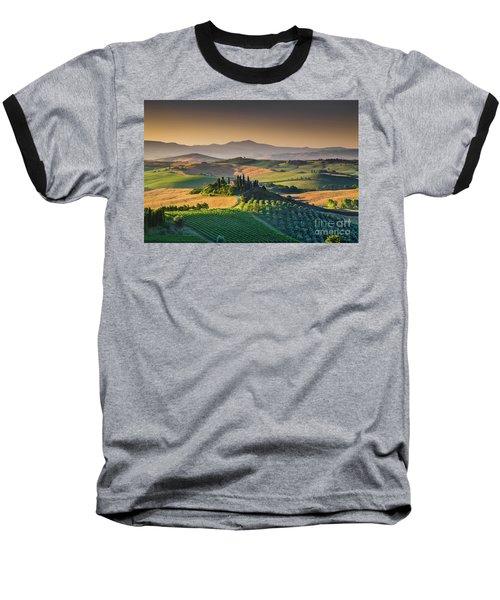 A Morning In Tuscany Baseball T-Shirt by JR Photography