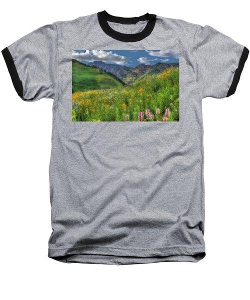 Albion Basin Wildflowers Baseball T-Shirt