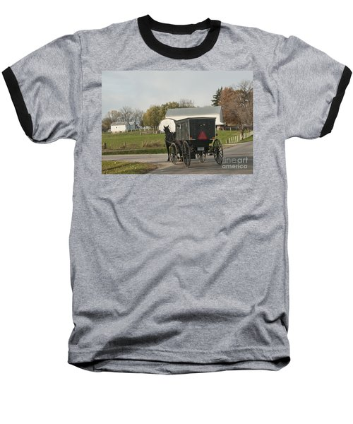 Amish Buggy Baseball T-Shirt