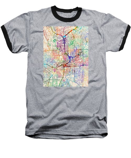 Atlanta Georgia City Map Baseball T-Shirt