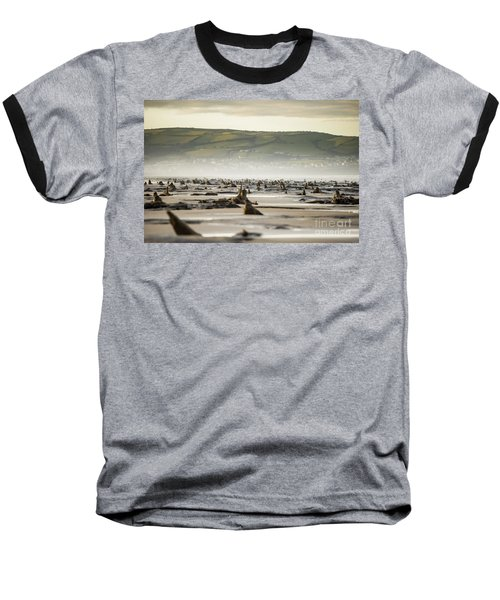 Bronze Age Sunken Forest At Borth On The West Wales Coast Uk Baseball T-Shirt