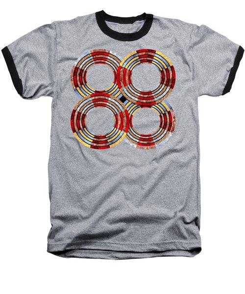6 Concentric Rings X 4 Baseball T-Shirt