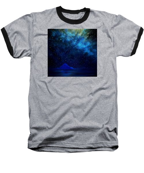 Cosmic Light Series Baseball T-Shirt by Len Sodenkamp