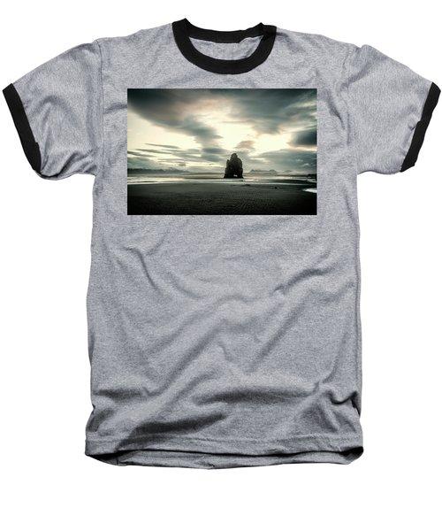 Dinosaur Rock Beach In Iceland Baseball T-Shirt by Joe Belanger