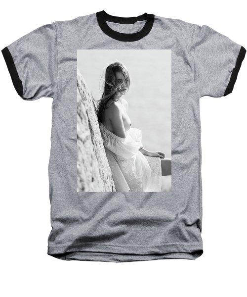 Girl In White Dress Baseball T-Shirt