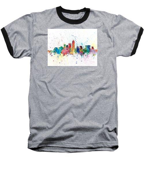 Indianapolis Indiana Skyline Baseball T-Shirt