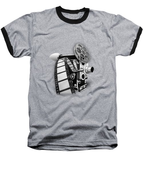 Movie Room Decor Collection Baseball T-Shirt by Marvin Blaine