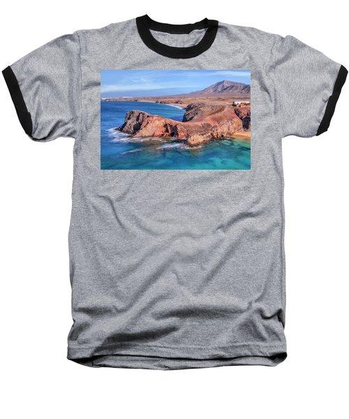 Playa Papagayo - Lanzarote Baseball T-Shirt by Joana Kruse