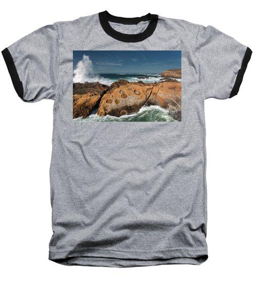 Point Lobos Concretions Baseball T-Shirt by Glenn Franco Simmons