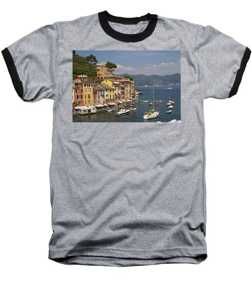 Portofino In The Italian Riviera In Liguria Italy Baseball T-Shirt by David Smith