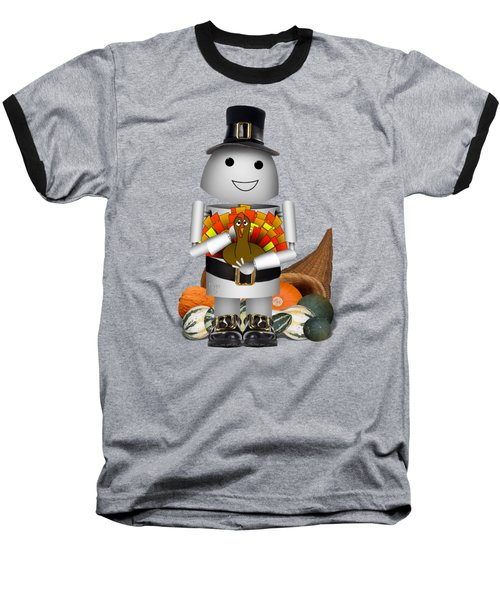 Robo-x9 The Pilgrim Baseball T-Shirt