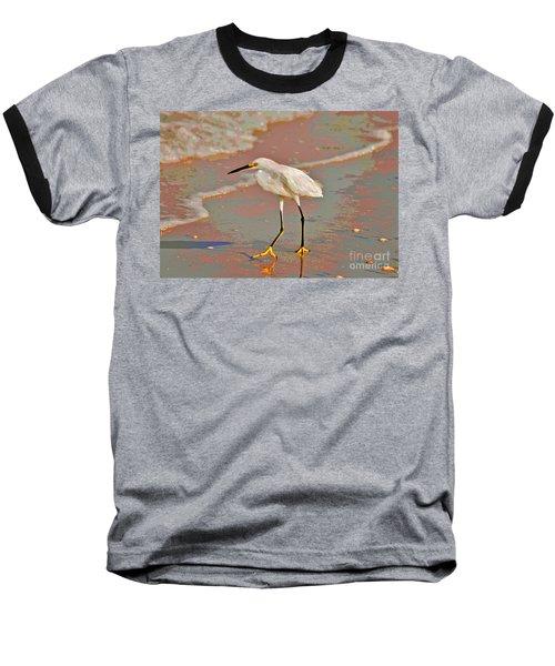 Baseball T-Shirt featuring the photograph 6- Snowy Egret by Joseph Keane