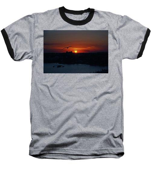 Baseball T-Shirt featuring the photograph 6- Sunset by Joseph Keane