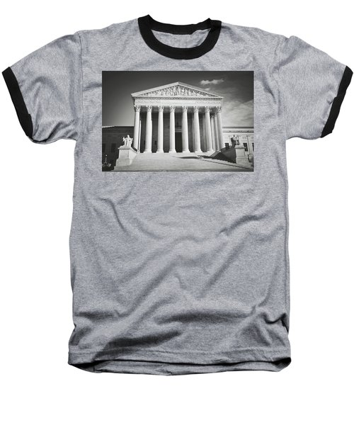 Supreme Court Building Baseball T-Shirt