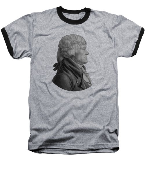 Thomas Jefferson Profile Baseball T-Shirt