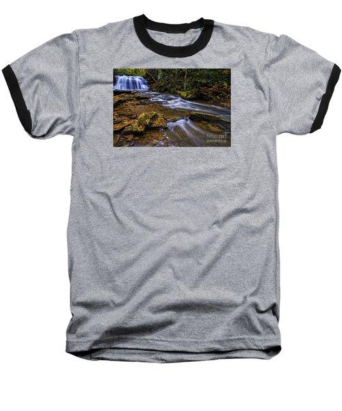 Upper Falls Holly River Baseball T-Shirt by Thomas R Fletcher