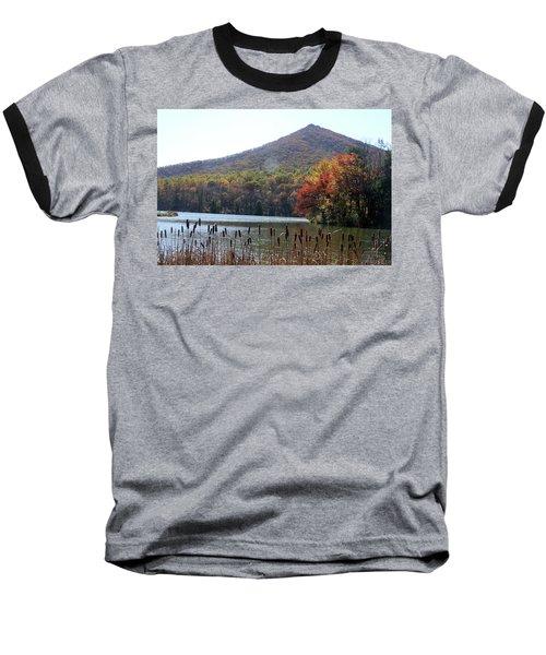 View Of Abbott Lake And Sharp Top In Autumn Baseball T-Shirt