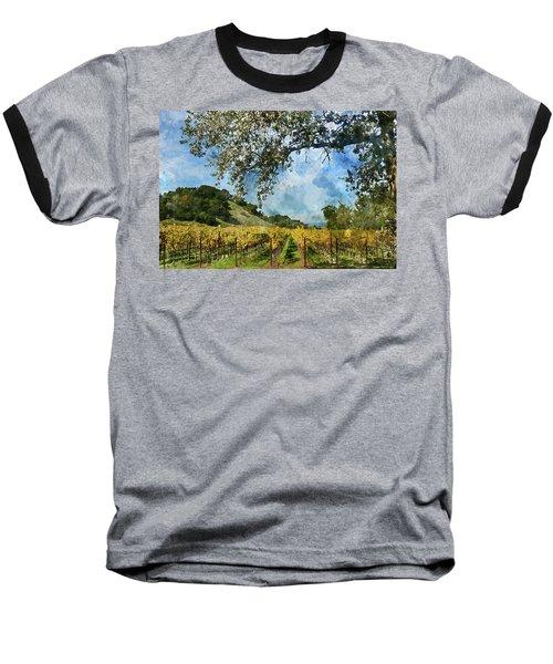Vineyard In Napa Valley California Baseball T-Shirt