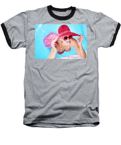 Vintage Val Poolside Baseball T-Shirt