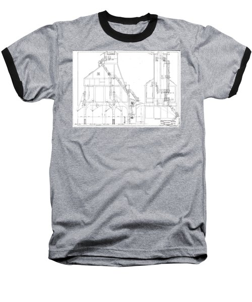 600 Ton Coaling Tower Plans Baseball T-Shirt