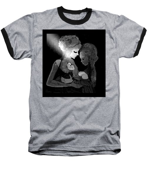 Baseball T-Shirt featuring the digital art 826 - The Child by Irmgard Schoendorf Welch