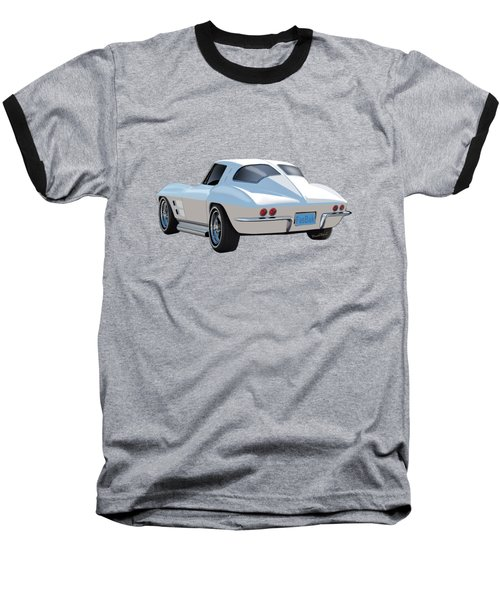 63 Vette Rear Illustration For Story Baseball T-Shirt