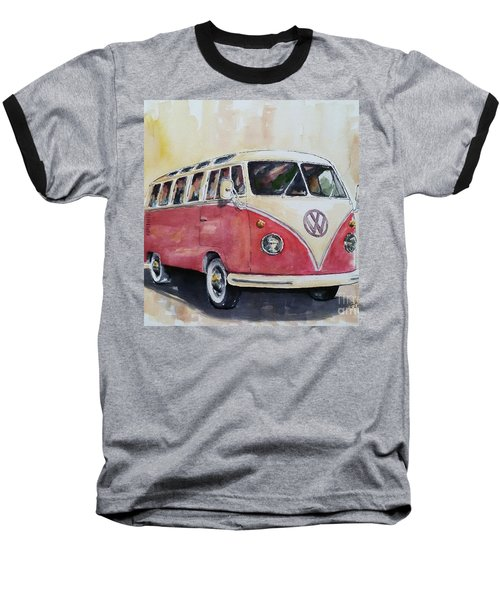 '63 V.w. Bus Baseball T-Shirt by William Reed