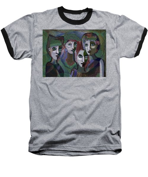 Baseball T-Shirt featuring the digital art 649 - Gauntly Ladies by Irmgard Schoendorf Welch
