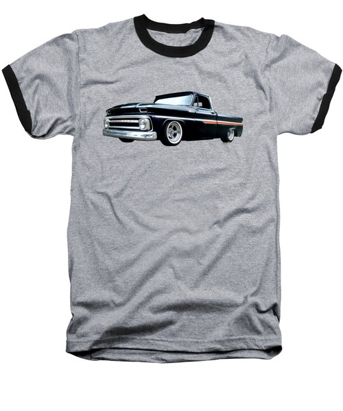 65 Chevy C-10 Stopping At Roy's On Route 66 Baseball T-Shirt