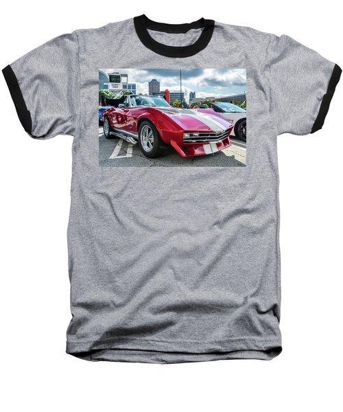 Baseball T-Shirt featuring the photograph 67 Mako Shark Corvette Stingray by Michael Sussman