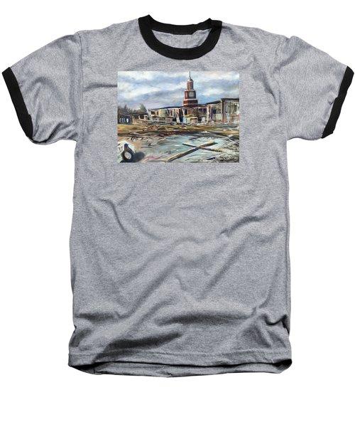 Baseball T-Shirt featuring the painting Union University Jackson Tennessee 7 02 P M by Randol Burns