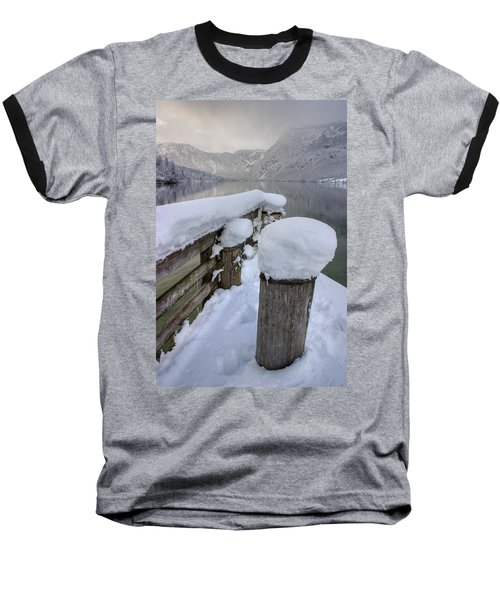 Baseball T-Shirt featuring the photograph Alpine Winter Reflections by Ian Middleton